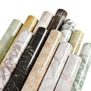 Self adhesive Wall Paper Marble Vinyl Film Wall Sticker Kitchen Furniture Wrapping Film