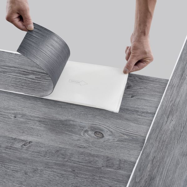 ca.1m² Vinyl Laminate self-adhesive Oak Grey Matte Planks Flooring 7 Planks per Pack