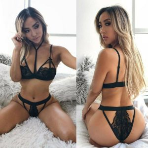 Womens Sexy Lingerie Ladies Thong Lace Top Bra Underwear Set Nightwear Sleepwear