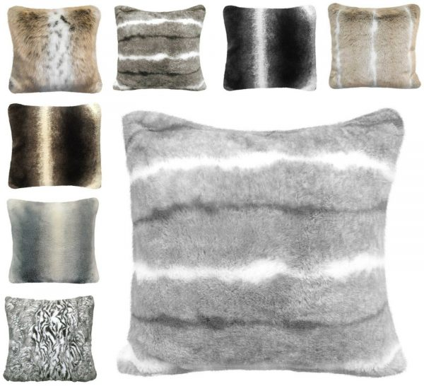 Faux Fur Sofa Large Super Soft Scatter Cushion Covers Arctic Cosy Cuddly Feel