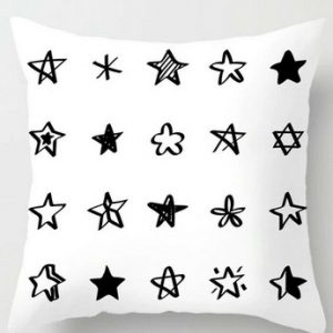Black White Cushion Covers Throws Pillowcase 100% Polyester Cushion Pattern #11