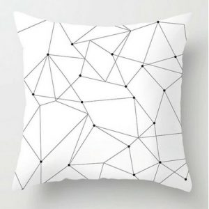 100% Polyester Black and White Cushion Cover Pillowcases Throws 45cm x45cm #1