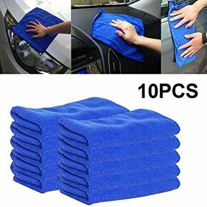 10 x LARGE AUTO CAR DETAILING MICROFIBRE CLEANING SOFT CLOTHS