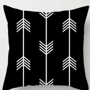 Black White Cushion Covers 100% Polyester Cushion Throws Pillowcase Pattern #10