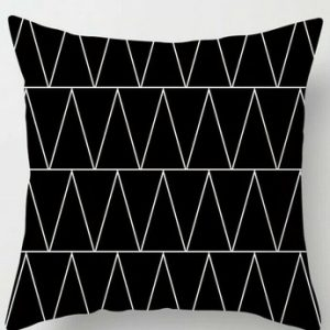 100% Polyester Black & White Design Cushion Covers Throws Pillowcase Pattern #15