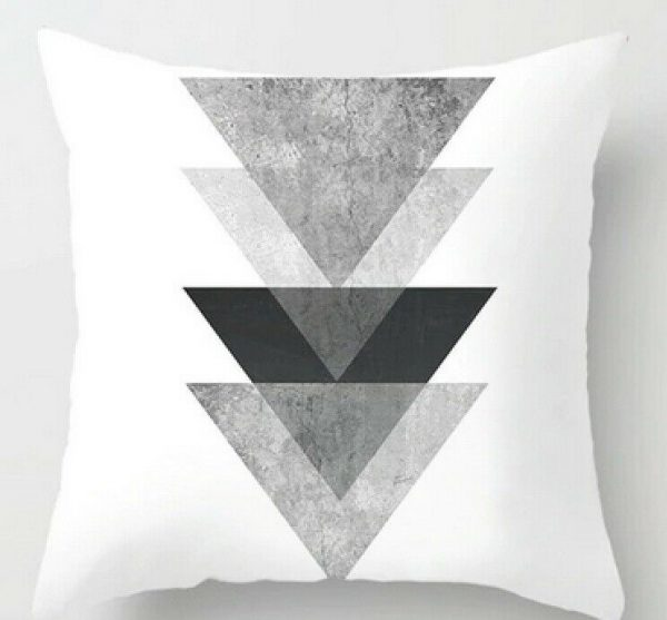 100% Polyester White Black Cushion Covers Throws Pillowcase Weave Pattern #14