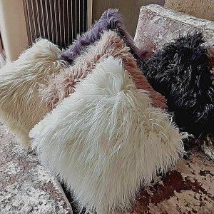 "Shaggy faux fur large cushion cover or cushions 21x21"" or 17x17"""