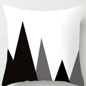 100% Polyester Cushion Covers Black White Throws Pillowcase Pattern #9