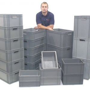 Stacking Heavy Duty Commercial Type Plastic Storage Box Boxes