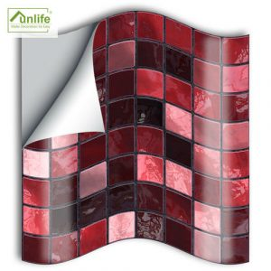 3D Self Adhesive Wall Tiles Kitchen Stickers Tile Bathroom Mosaic Sticker Self-adhesive Tile